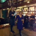 Helen and Claire at Daunts
